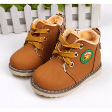 New Baby Girls Boys Martin Boots Kids Childrens Cotton Oxfords Shoes Snow Winter