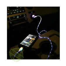 2A Car Charger + Light Up LED Micro USB Cable Cell Phone Smart Fast Glow Glo