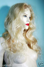 Remi Remy Full Lace Wig Wigs Indian Human Hair Blonde 613 Long Body Wave