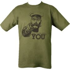 BRITISH ARMY T-SHIRT 100% COTTON WW1 KITCHENER YOUR COUNTRY NEEDS YOU MILITARY