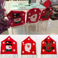 Santa Clause Snowman XMAS Deer Chair Back Covers Dinner Table Party Decor Gift
