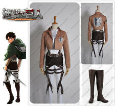 Attack on Titan Scouting Legion Levi Cosplay Costume & Shoes Custom Made