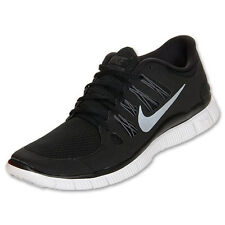 Nike Free 5.0 Womens Size Running Shoes Black White Silver Sneakers 580591 002