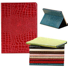 Crocodile Grain Leather Flip Stand Case Cover Skin For Apple iPad Air 2 ipad 6