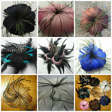 feather Fascinator Hair Flower brooch hairs clip pin include
