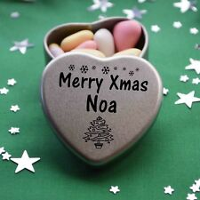 Merry Xmas Noa Mini Heart Tin Gift Present Happy Christmas Stocking Filler