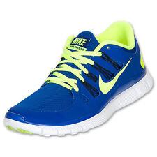 buy online fd2c5 fab7e Nike Free 5.0 + Mens Running Shoes Blue Volt Sneakers 579959 470
