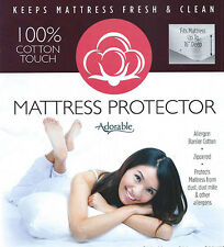 100 % Cotton Touch Mattress Protector Covers Zippered Adorable Allergen Barrier