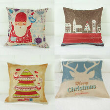 Merry Christmas Square Sofa Throw Pillow Case Car Back Cushion Decorative Covers