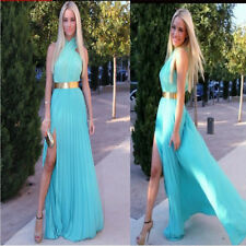 New Elegant Women Halterneck Bohemia Beach Party Evening Long Dress, 2 Color