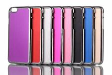"""Chrome Brushed Metal Hard Back Skin Case Cover For Apple iPhone 6 - 4.7"""" inch"""