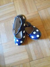 NEW NAVY W/ WHITE POLKA DOTS PUDDLE JUMPERS SHOES SCHOOL UNIFORM SHOES