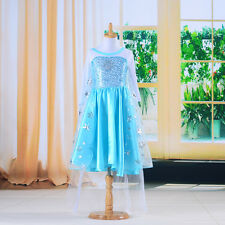 Snowflake Baby Girls Kids Frozen Elsa Costume Party Fancy Formal Dress Clothes
