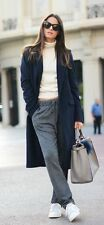NWOT ZARA ASO CELEBRITIES WOOL ICONIC NAVY COAT PINSTRIPE SOLD-OUT S M