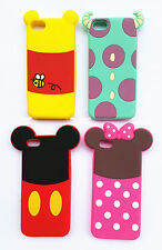 Cute Lovely Cartoon Soft Silicone Back Cover Case Skin For Mobile Phones