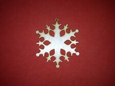 10 x SNOWFLAKE n1 plain UNPAINTED WOODEN CHRISTMAS TREE HANGING GIFT DECOR TAG