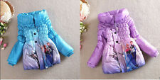 Disney Frozen Princess Elsa Anna Snowsuits Outwears Kids Slim Lined Coat Jacket!