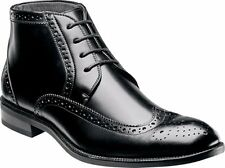 STACY ADAMS GAGE MEN'S DRESS BOOTS BLACK LEATHER WING TIP STYLE#24918-001