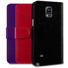 PU Leather Horizontal Wallet Case Cover Pouch For Samsung Galaxy Note 4 Phone