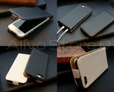 iPhone 5 5S Real Genuine Leather Flip Case Cover Ultra Thin & Very light