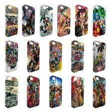 Full Wrap DC Marvel superhero comic book cover case for Apple iPhone - W9