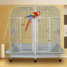 """Piilani Plantation™ Extra Large Double Bird Cage With Divider - 64""""W x 32""""D x 70"""