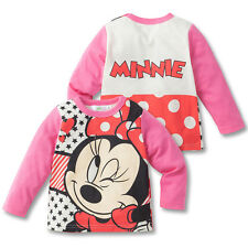 100%Cotton Bow-knot Minnie Mouse Baby Girls Kids Long Sleeve T-Shirt/Shirt New