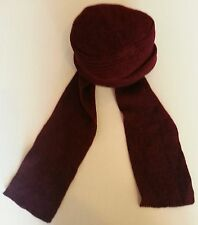 TODDLER CHENILLE KNIT HAT W / ATTACHED SCARF