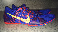 NEW Mens 12 13 NIKE Zoom Victory 2 Royal Blue Middle Distance Track Spikes Shoes