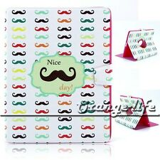 Nicy Day Beard PU Leather Stand 360 Rotating Magnetic Case Cover For Apple iPad