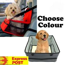 Portable Car Pet Dog Booster Seat Adjustable Strap with Cushion Leash FAST POST