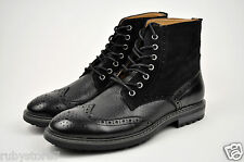 LA MILANO Men's Black Genuine Leather Winter Dress Boots Shoes High Top B5900