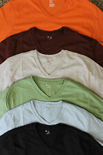 GAP V-Neck T-Shirts, Various Colors, Super Soft, 100% Cotton, New with Tags
