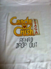 Candy Crush Saga Rehab T-shirt Size SM, M, L, XL, white 100% Cotton