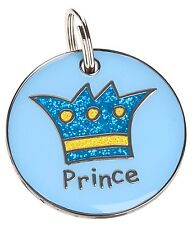 Engraved Pet ID Tags DOG CAT Princess & Prince 25mm Disc FREE Post & Engraving