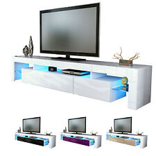 "NEW White High Gloss TV Stand Media Entertainment Center ""Lima V2"""