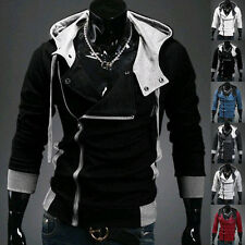 New Men's Top Design Autumn Winter Stylish Hooded Hoodies Zip Coat Jacket