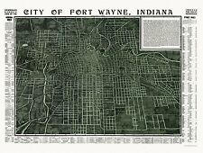 Historic Map of Fort Wayne Indiana 1907 Allen County