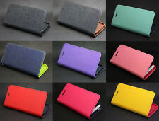 Deluxe Wallet Leather Flip Folio + Tpu Skin Case Cover For HTC One M7/M8/MAX T6