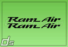 "Trans AM Ram Air 5"" Decal Hood Fender Tail Replacement Vinyl Pontiac WS6 98-02"