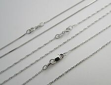 14k White Gold BOX CABLE SINGAPORE Chain Necklace Solid 14kt gold necklaces