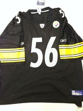 NFL Pittsburgh Steelers LaMarr Woodley #56 Black Reebok Jersey SALE