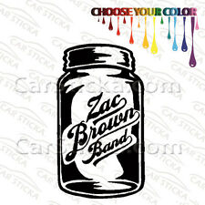 "1 of 5"" to 20"" Zac Brown Band Mason Jar /A artist car wall stickers decals"