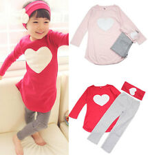 New 3Pcs baby Girl clothes Kids girls Children Outfits Sets cute Sleepwear Suit