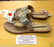 Grendha Python Beige Gold Sandals Fishing Reef Flip Flops Rider 6 7 8 9 10  NEW