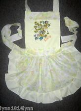 KIDS LEMON FAIRY DAISY APRON with Embroidery or Personalised M2O FIT 1-12 years