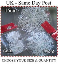 Iridescent Snowflake Christmas Decorations Winter Frozen Festival Ornaments