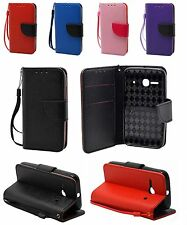 For Alcatel One Touch Evolve 2 4037T Leather Wallet Case Cover w/ Holder Strap