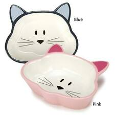 Cat is Good Ceramic Cat Dishes Ceramic Kitten Food Bowl Cat Shaped Feeder Dish