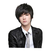 1x Full Wig Fit Face Short Hair Handsome Cool Men Boy Korean Style Daily & Party